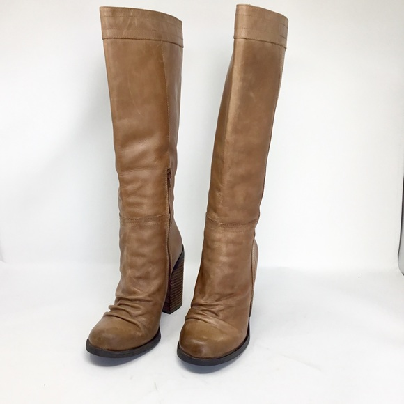 8af210e4121 Jessica Simpson tan leather knee high boots